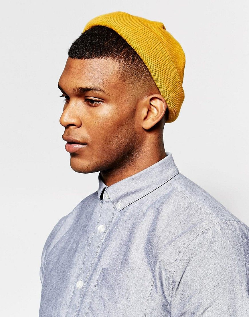 Image 3 of ASOS Mini Fisherman Beanie In Mustard  ea7559df9ce2