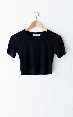 b6ad1b8af84 Ribbed Crop Top - Black | s t y l e | Basic crop top, Crop tops ...