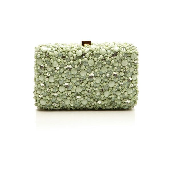 Mint Small Embroidery Clutch (€2.125) ❤ liked on Polyvore featuring bags, handbags, clutches, bolsas, purses, borse, mint green purse, elie saab, man bag and embroidery purse