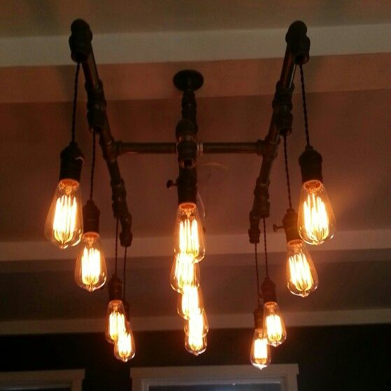 Plumbing Pipes And Old School Light Bulbs Projects To Try
