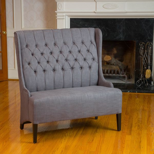 Delightful Christopher Knight Home Heidi Button Tufted Charcoal WingBack Loveseat    Overstock™ Shopping   Great Deals On Christopher Knight Home Sofas U0026  Loveseats