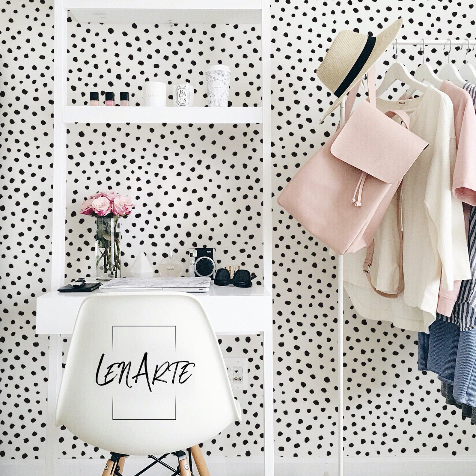 Paint Dot Wallpaper Dots Pattern Modern Pattern Wall