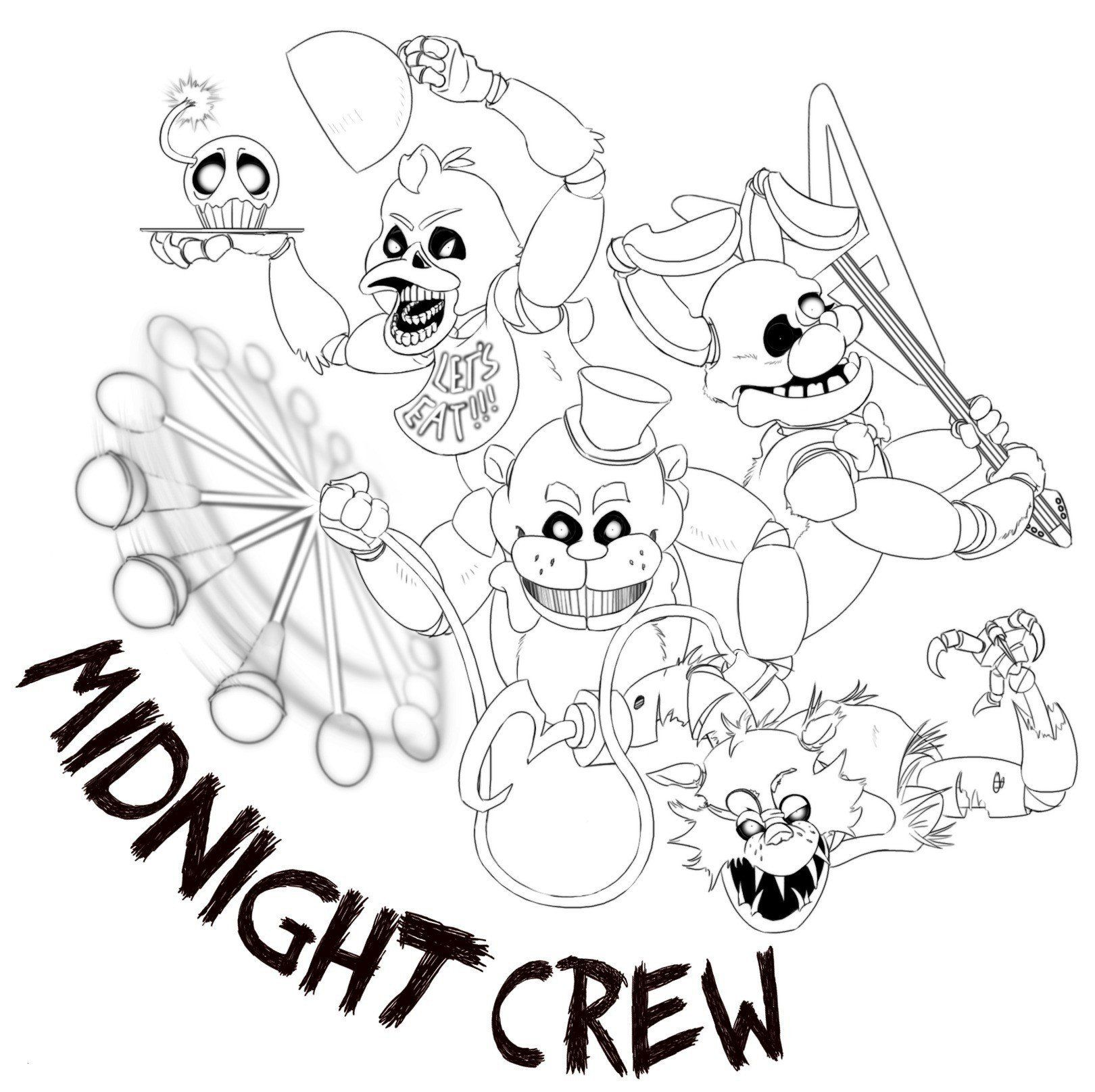Five Nights At Freddys Coloring Pages Inspirational Mangle