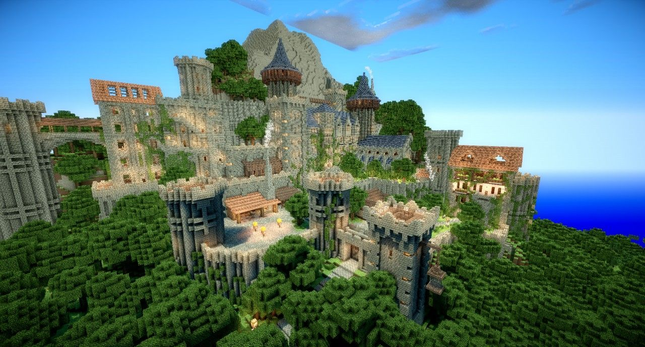 minecraft unbelievable shaders castle | château le beef minecraft