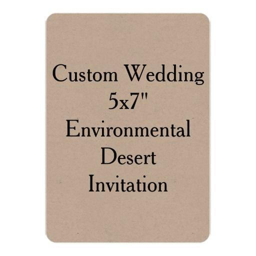 """Custom Wedding 5x7""""  Environmental Desert Invite"""