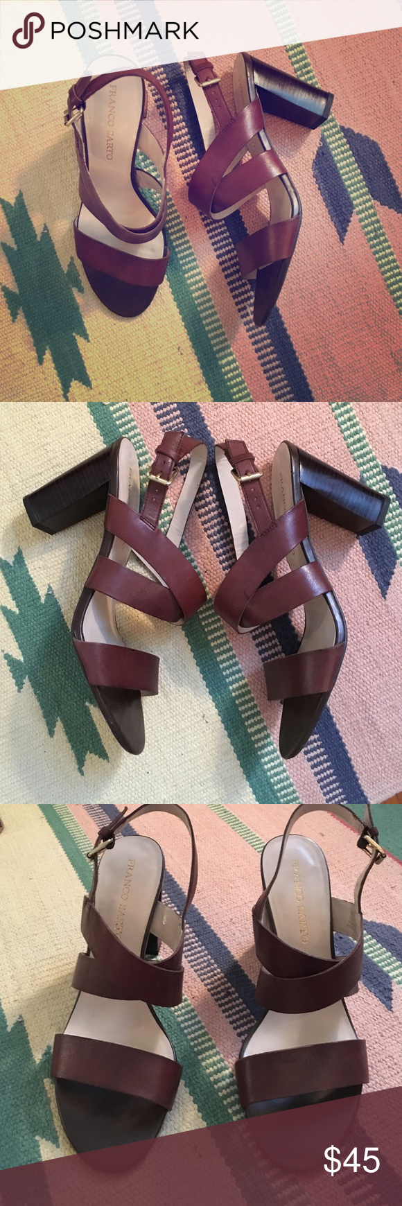 Franco Sarto heels Mint condition! Extremely comfortable! Great style, a closet staple heel! Franco Sarto Shoes Heels