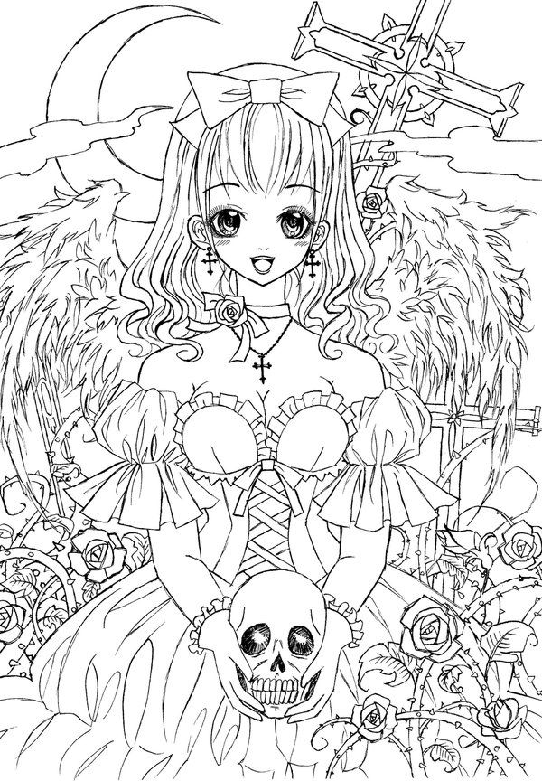 goth coloring pages
