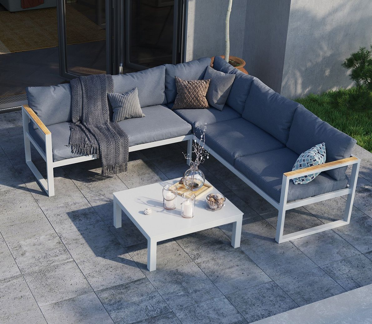 Malibu 5 seater outdoor modular sofa set is designed to please the outdoor crowd whether