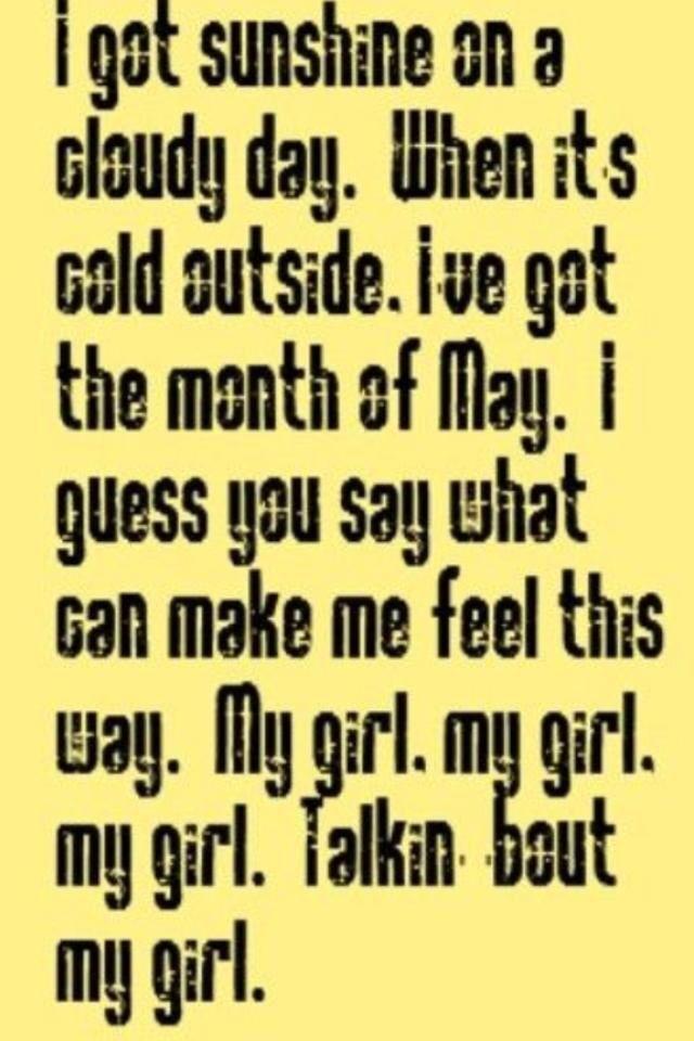 I love my girl lyrics
