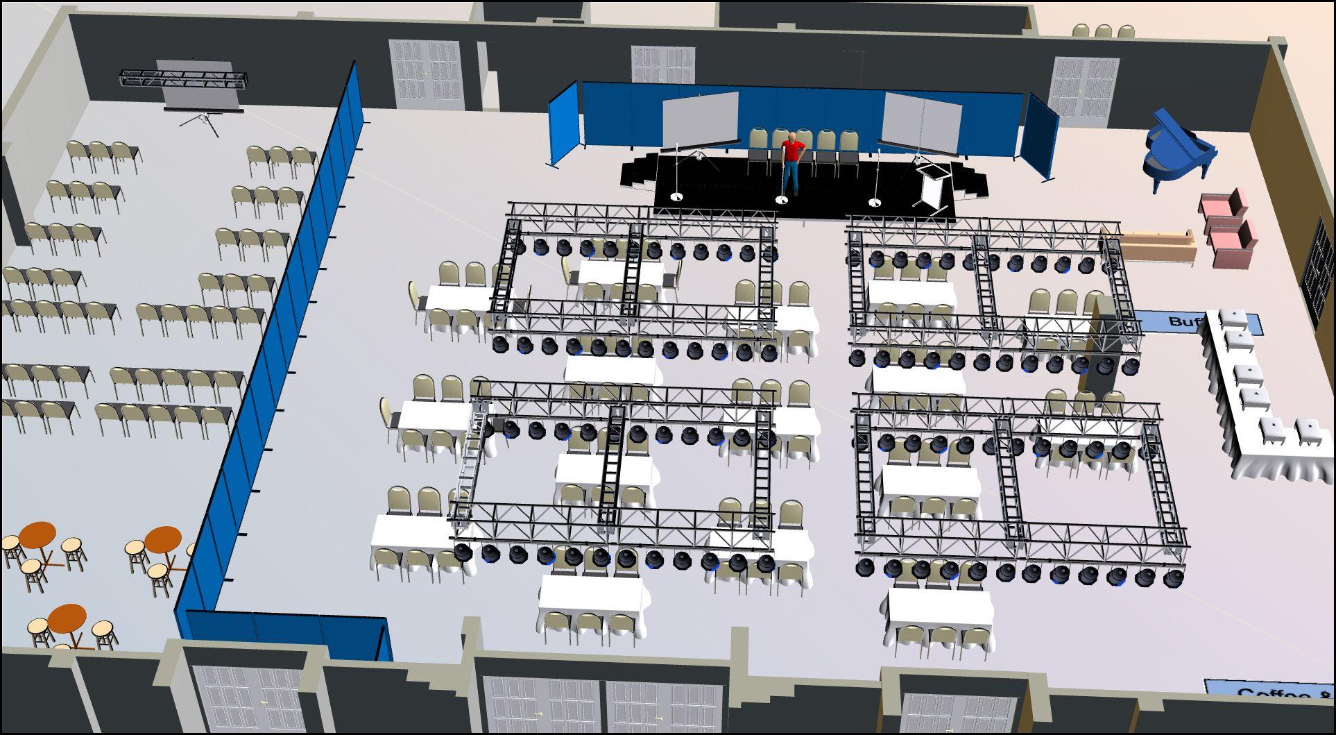 3D Event Floor Plans