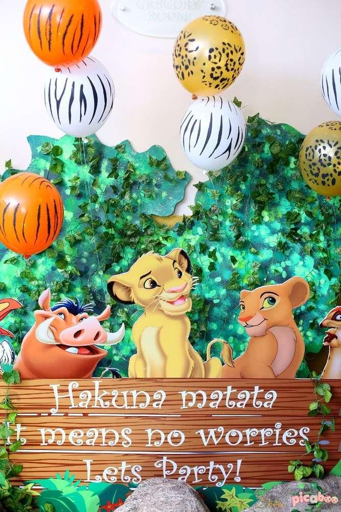 lion king birthday party ideas