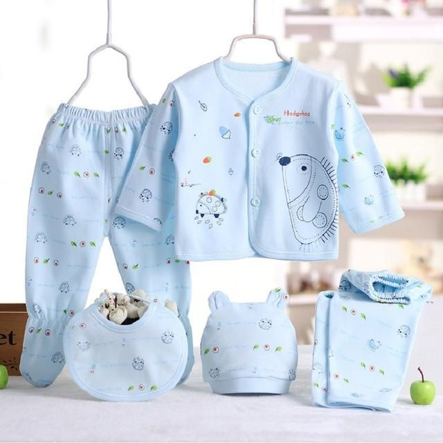 f6194aabd21c2 5pcs/set Newborn baby girl clothes 100% cotton enfant clothing set ...
