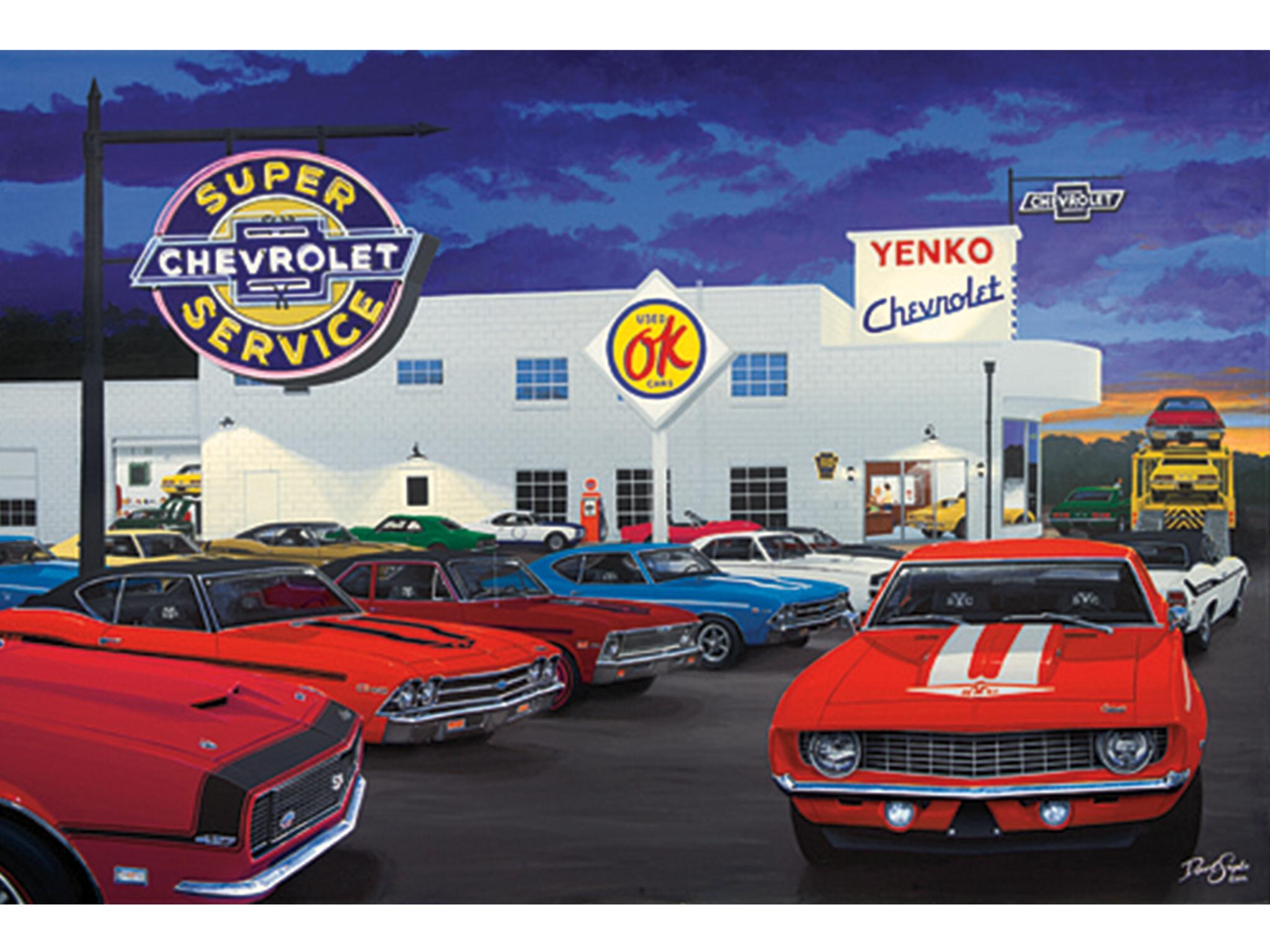 Yenko Chevrolet Dealership Cannonsburg Pennsylvania Chevrolet Dealership Car Prints Chevrolet