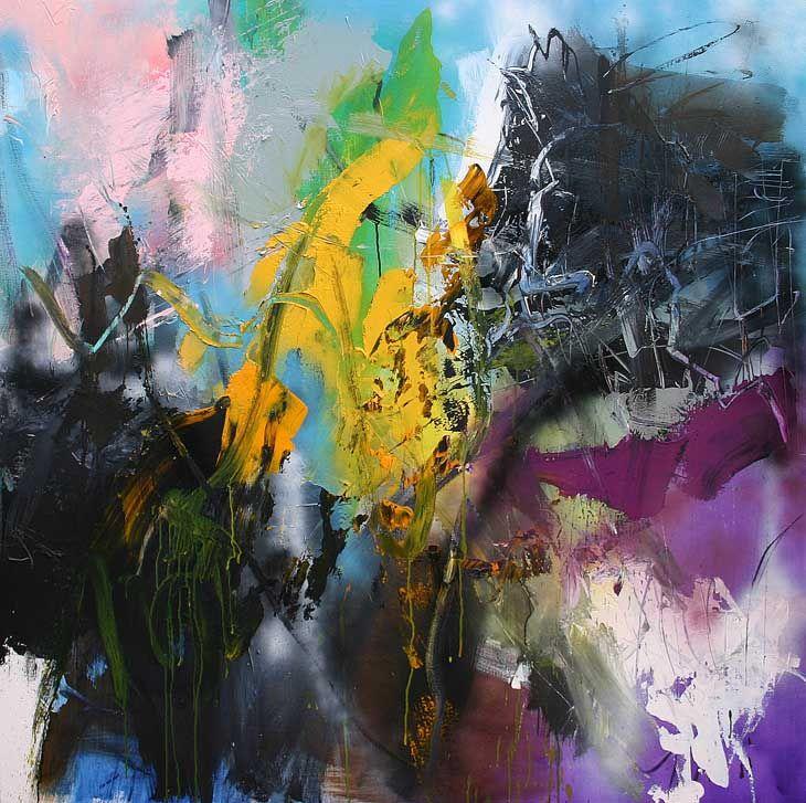 150x150cm See the making of my paintings: www.youtube.com/vanjanjan
