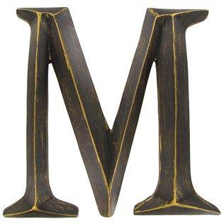 12 Bronze Polystone Letter M Shop Hobby Lobby Letter Wall Decor Letter Wall Rustic Wall Letters