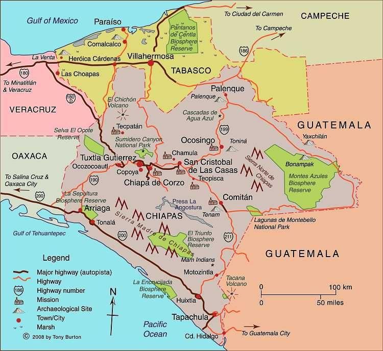 Resultado de imagen de mapa escala real veracruz chiapas