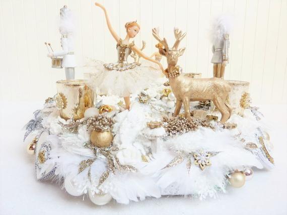 adventskranz weiss silber gold tanz der zuckerfee shabby. Black Bedroom Furniture Sets. Home Design Ideas