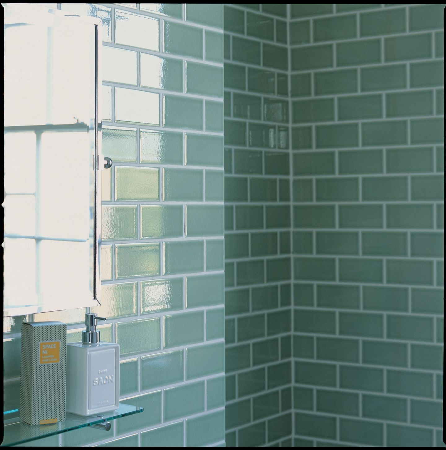 Small Bathroom Tile Ideas - DIY this look with Laurel Green Subway ...