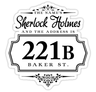The Name S Sherlock Holmes Sticker By Starrygazer Sherlock Quotes Sherlock Holmes Sherlock Holmes Bbc