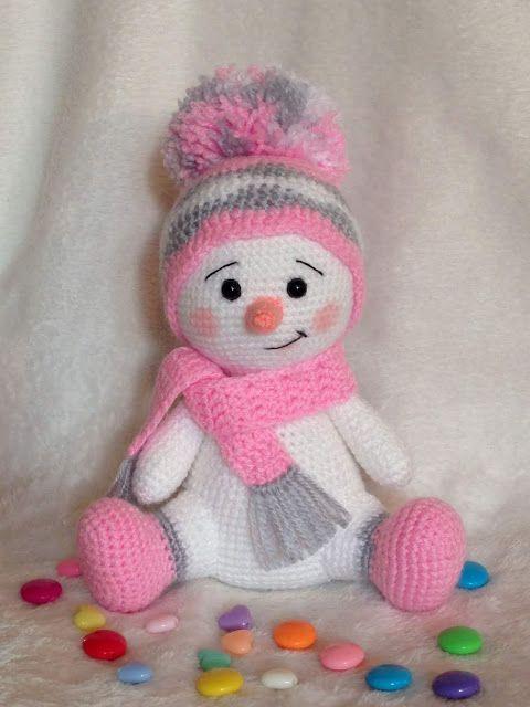 Photo of Crochet snowman amigurumi Pattern. Free Crochet Pattern, snowman, amigurumi, Cro…