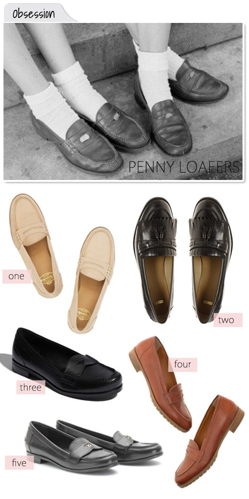 obsessing over penny loafers