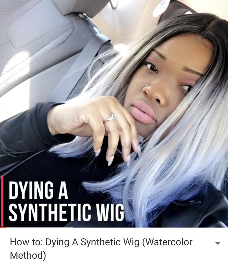 Using Watercolor On My Hair How I Apply My Wig Youtube