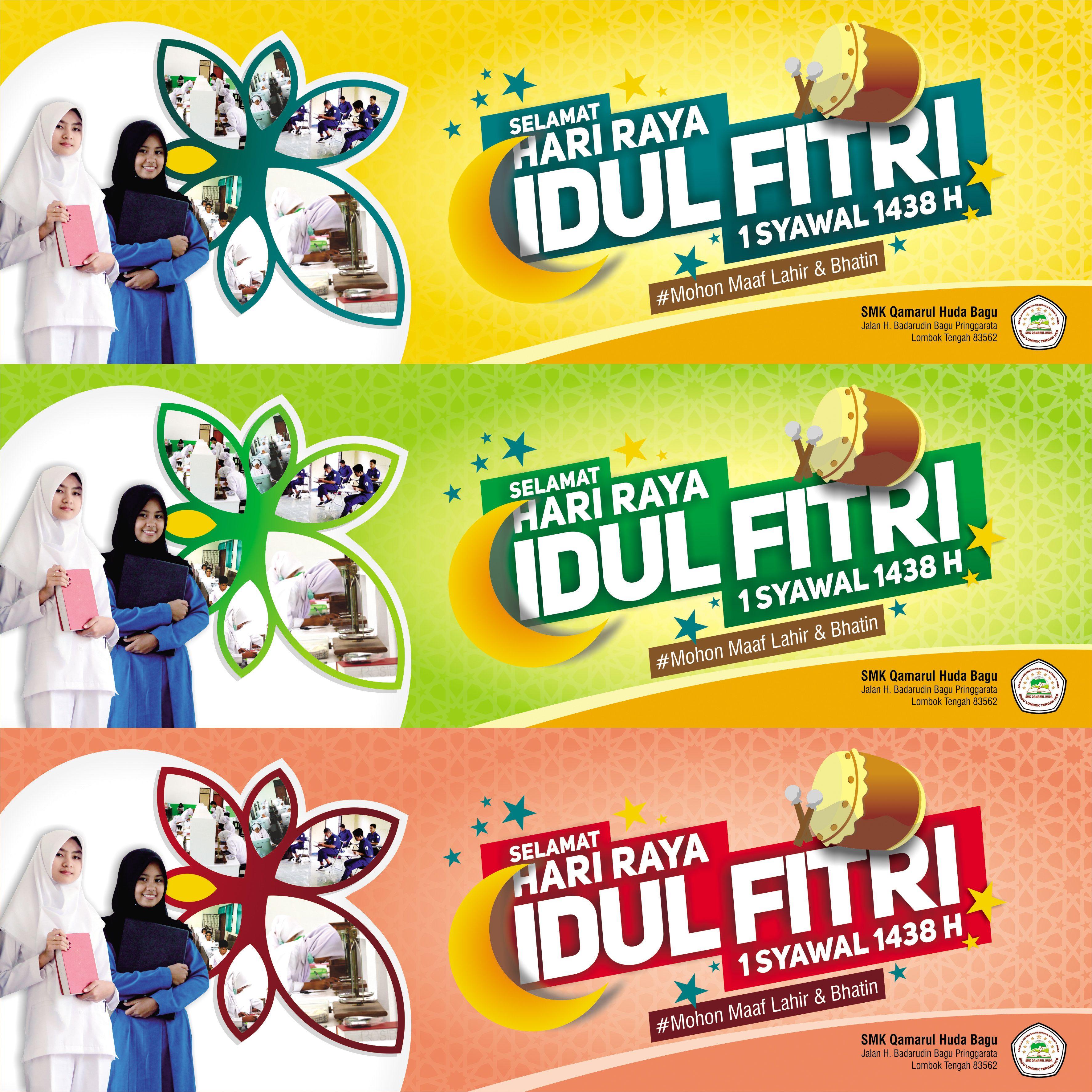 Spanduk Idul Fitri H Client Smk Qamarul Huda Lombok Ntb
