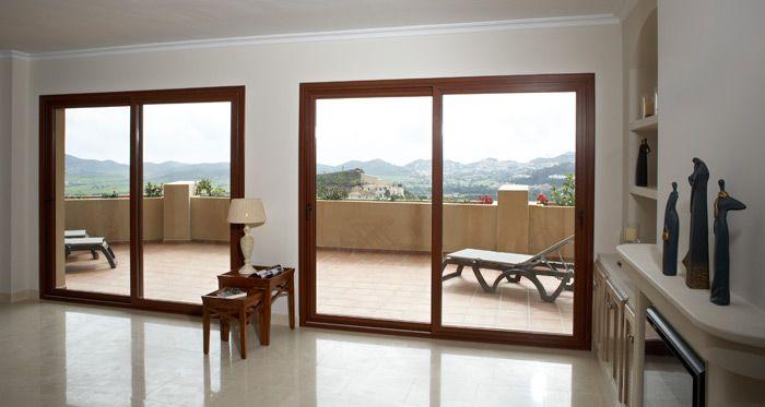 Dos ventanas terraza puertas correderas de exterior en - Puertas para terrazas ...