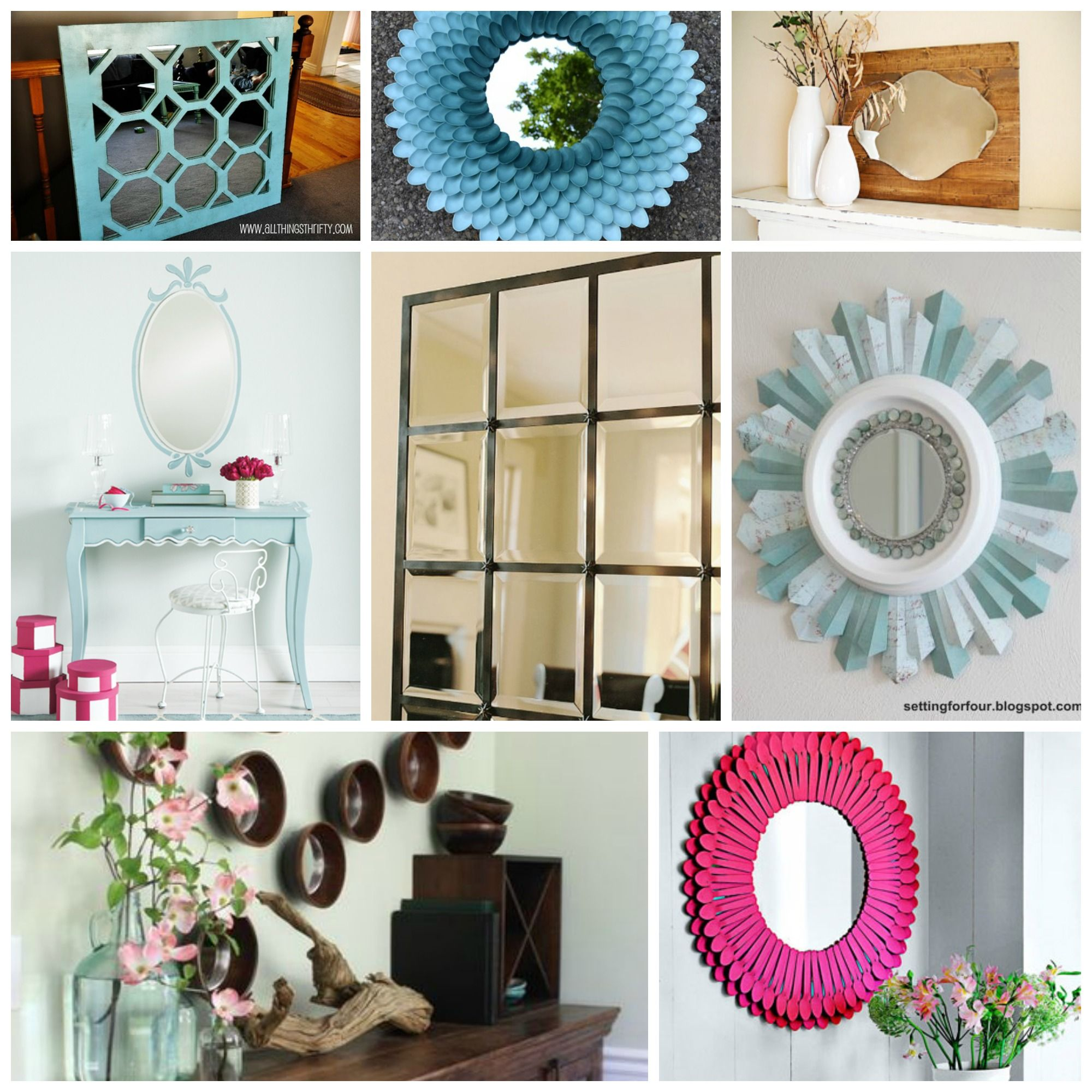 DIY Mirrors Round Up Crafty Tutorials and Upcycling