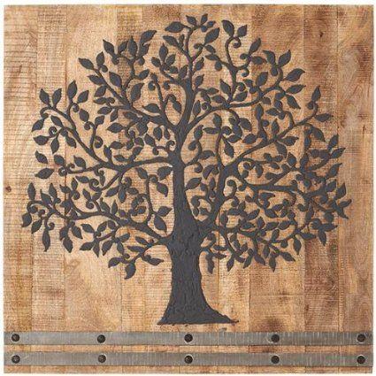 Amazon Com Arbor Tree Of Life Wall Art 36hx36w Flint Charcoal
