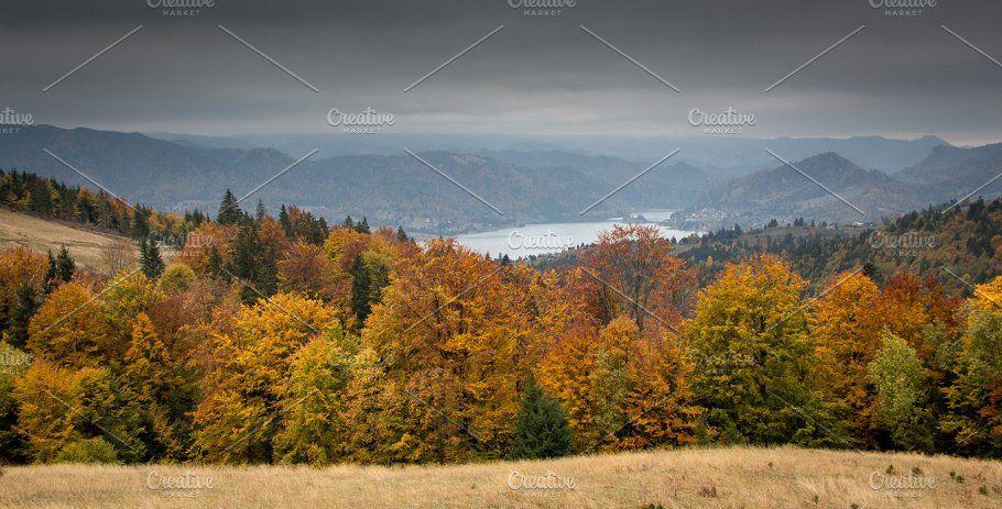 Picturesque autumn scenery by An_cika on @creativemarket #autumnscenery