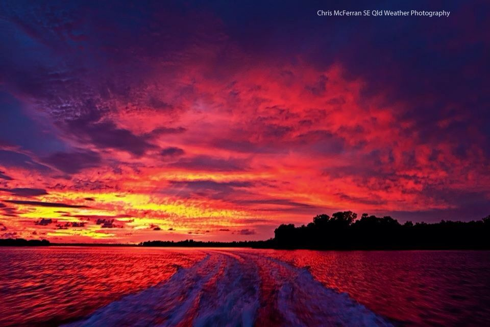 Sunset over Warwick queensland aust
