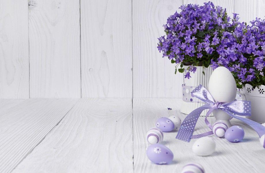 Easter eggs with lavender 4K Ultra HD wallpaper | 4k-Wallpaper.Net