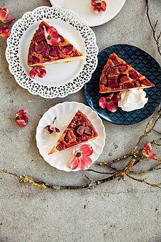 Rhubarb and Marzipan Upside Down Cake (And Some News)