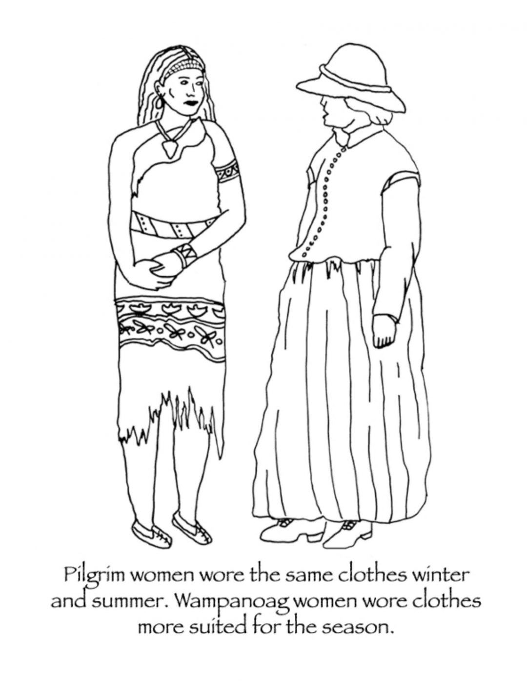 A Collection Of Culturally And Historically Accurate Thanksgiving Coloring Pages For Children Thanksgiving Coloring Pages Pilgrim Clothing Free Thanksgiving Coloring Pages