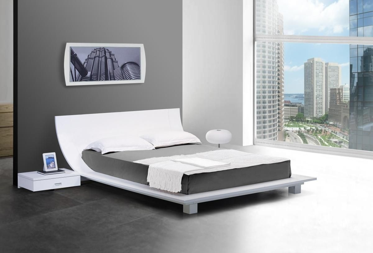 japanese house framing  japanese platform bed frame ideas  feel  - the uniquely shaped bed frame makes the story white platform bed with nightstands a fine addition any contemporary sleeping quarter