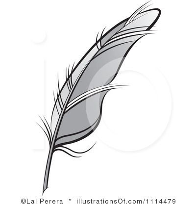 gallery quill clip art black and white