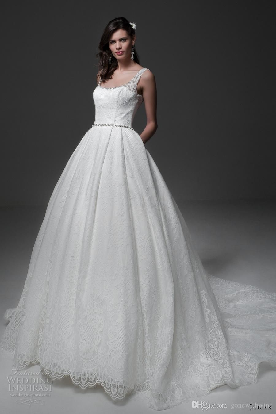 Jumpsuit pockets full lace wedding dresses winter feather shawl