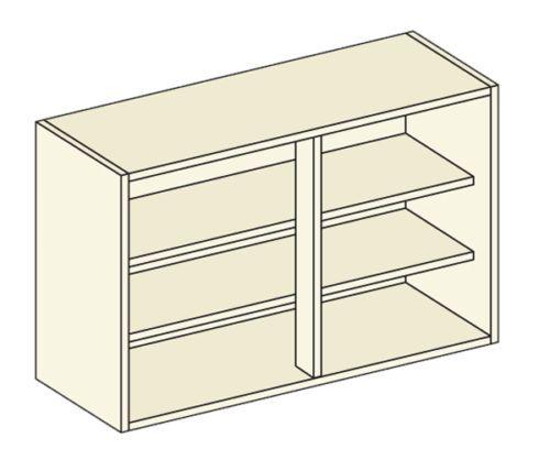 Stocked White Kitchen Wall Units Inc Gloss White Door & Hinge ...