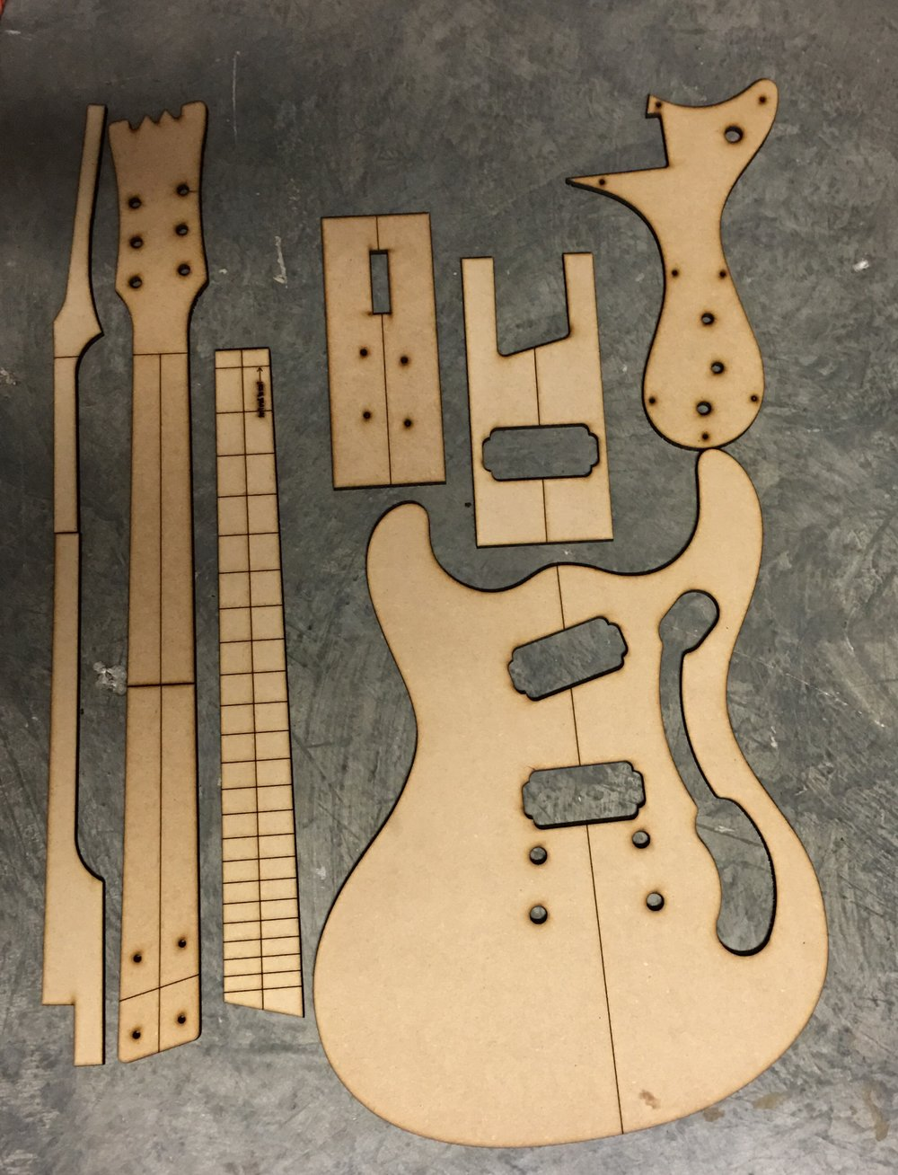Mosrite — Guitar Building Templates