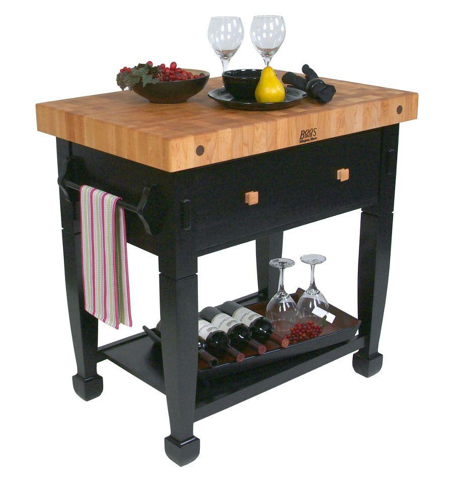 boos jasmine butcher block black table base