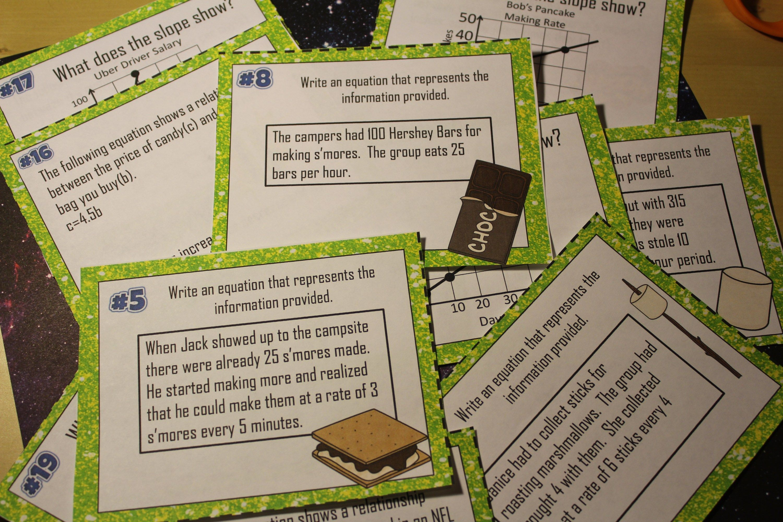 8 Slope Intercept Word Problems Activities That Rock