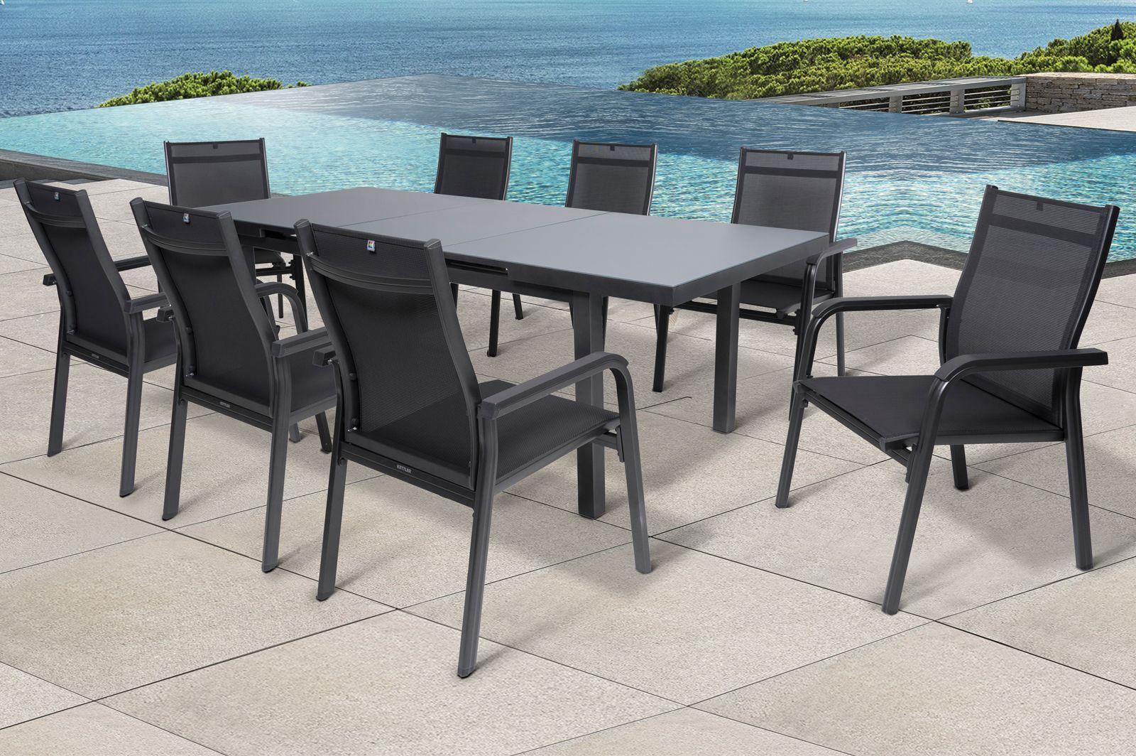 Kettler Basicplus Set Tisch 8 Sessel Anthrazit Gartenmoebel De In 2021 Sitzgruppe Ausziehtisch Gartenmobel