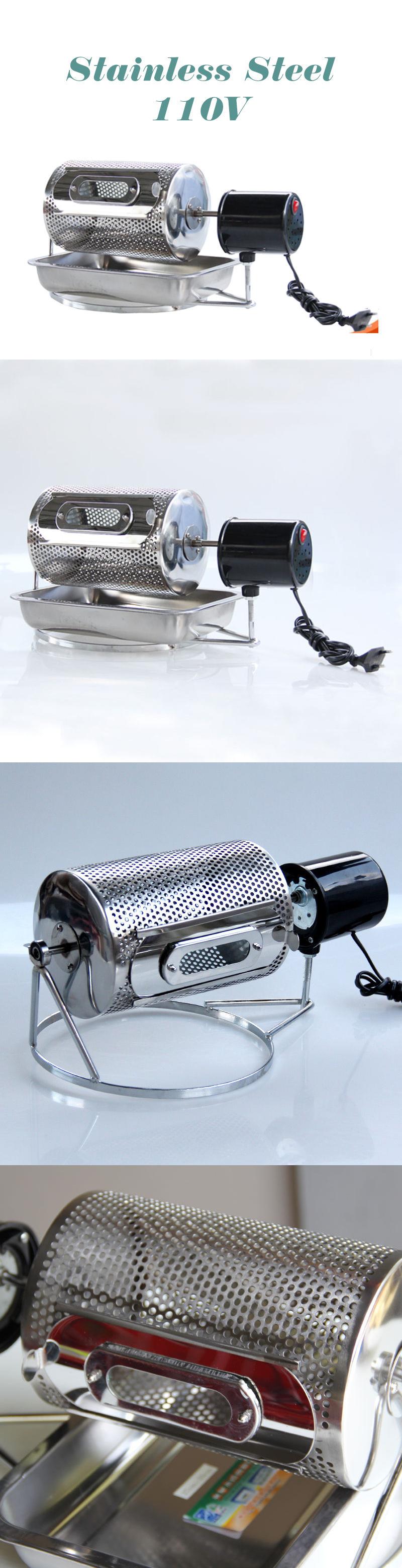 110V Home Kitchen Coffee Roaster coffee bean Machine Stainless Steel