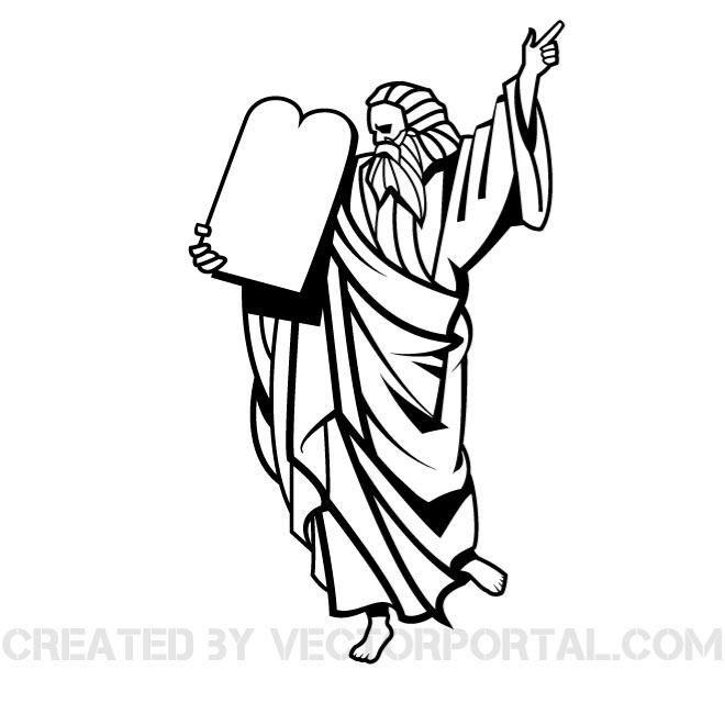 Moses Vector Clip Art Image Download At Vectorportal Vector Images Free Vector Art Vector Free