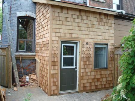 Best Extension Finished In Cedar Shingles Cedar Cladding Drywall Installation Cedar Shingles 640 x 480