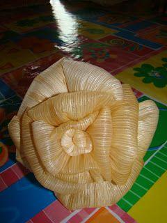 No Mundo Da Chris: Passo a passo, linda flor de palha de milho