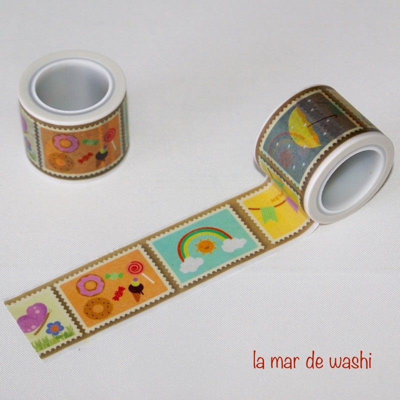 Washi Tape happy mail colores                                                                                                                                                      More