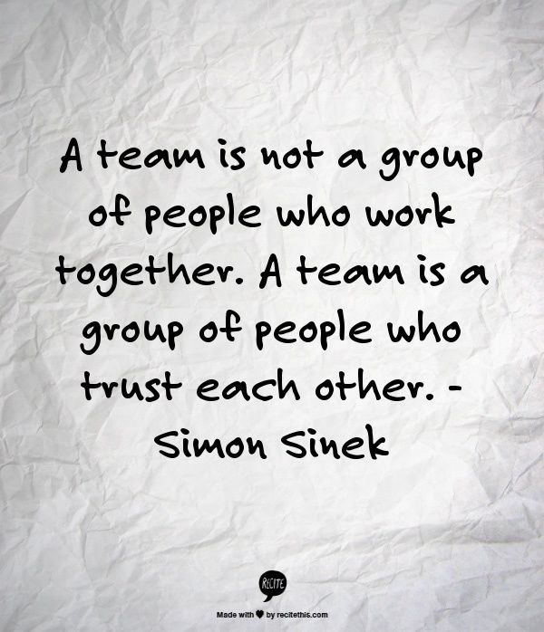 Quotes On Team A Team Is Not A Group Of People Who Work Togethera Team Is A Group .