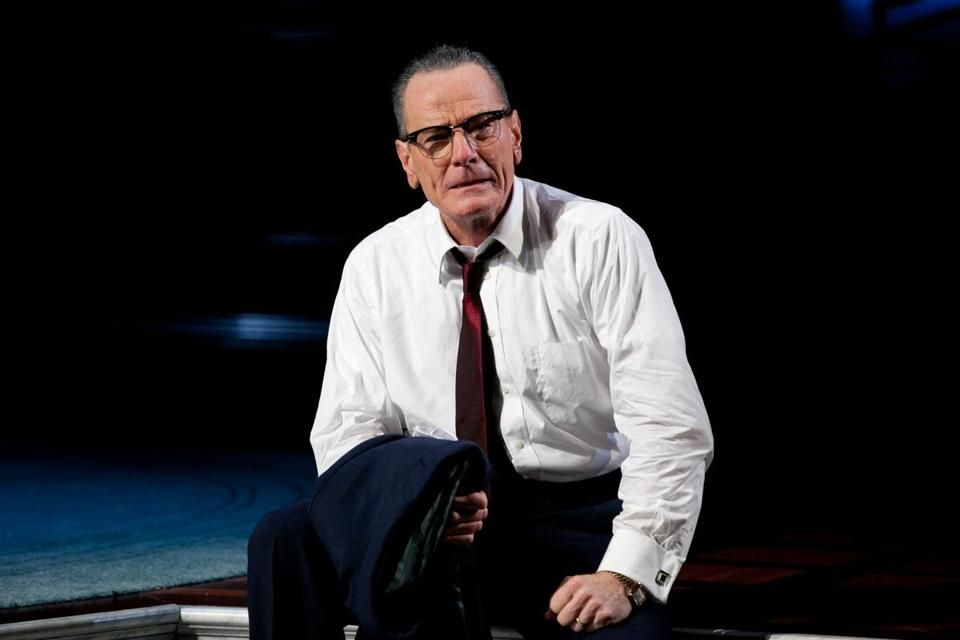 """Bryan Cranston stars as President Johnson in American Repertory Theater's production of """"All the Way."""""""